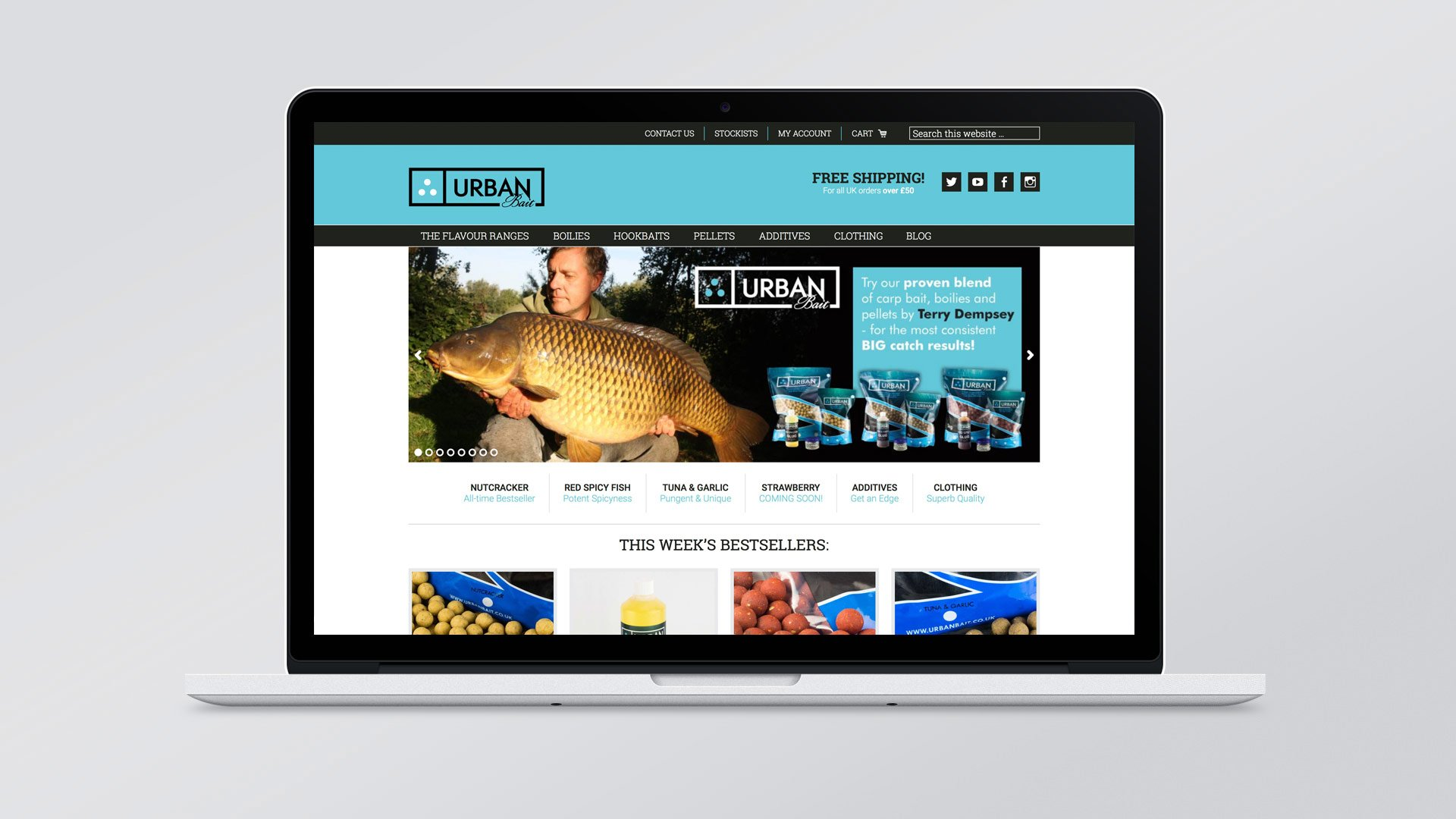 Urban Bait homepage design