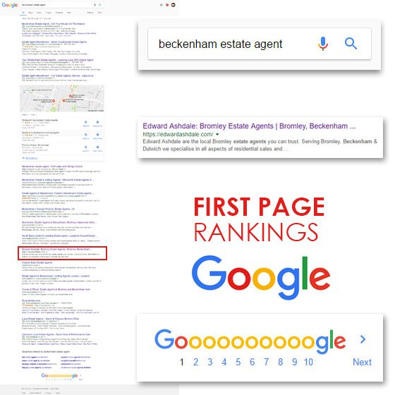 First page Google rankings by Smoking Chill Media