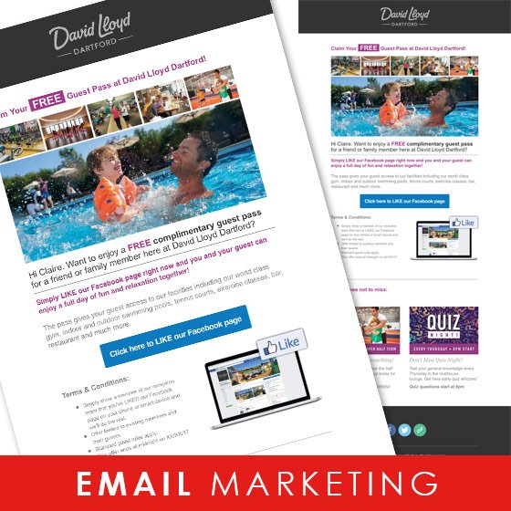 Smoking Chill Media's email marketing for David Lloyd
