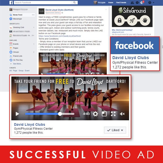 Successful Facebook Video Ad Campaign