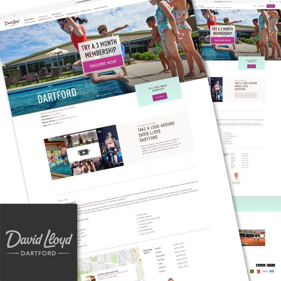 Digital marketing for David Lloyd Dartford by Smoking Chili Media