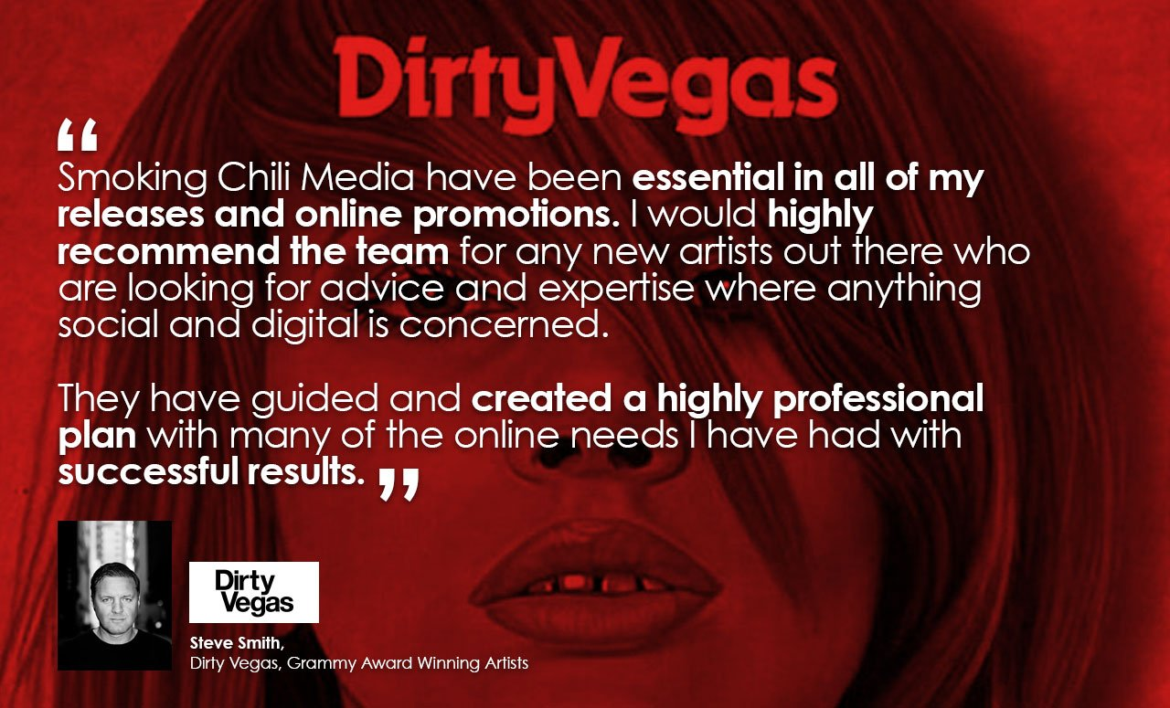 Steve Smith - Dirty Vegas - Emmy Award Winning artists - Testimonial about Smoking Chill Media