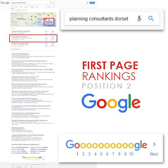 Tanner and Tilley - First page rankings on Google - by Smoking Chill Media