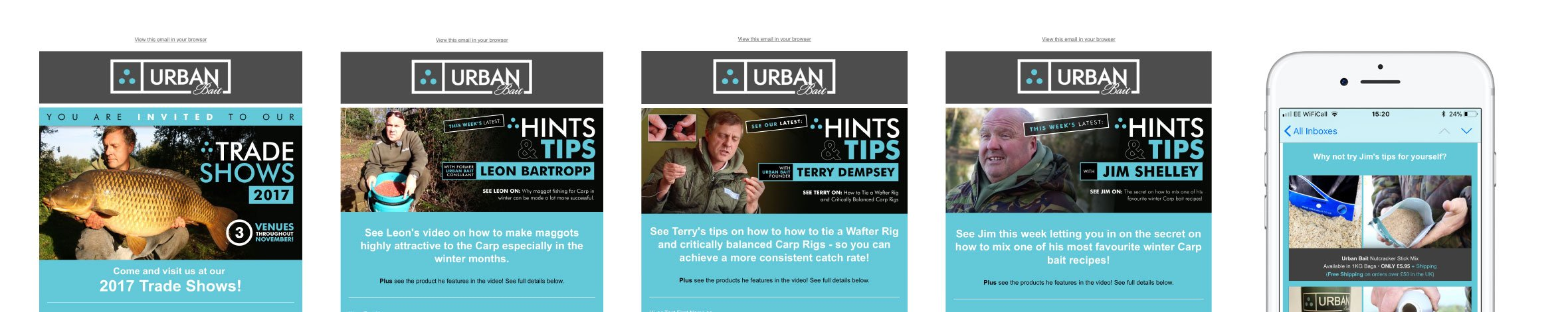 Urban Bait Email Marketing Mailshot Design