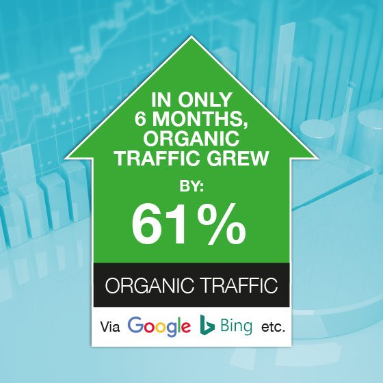 We grew organic traffic by 61% in only 8 months