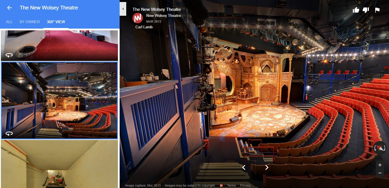 360 Virtual Tour of Theatre Google My Business Photos