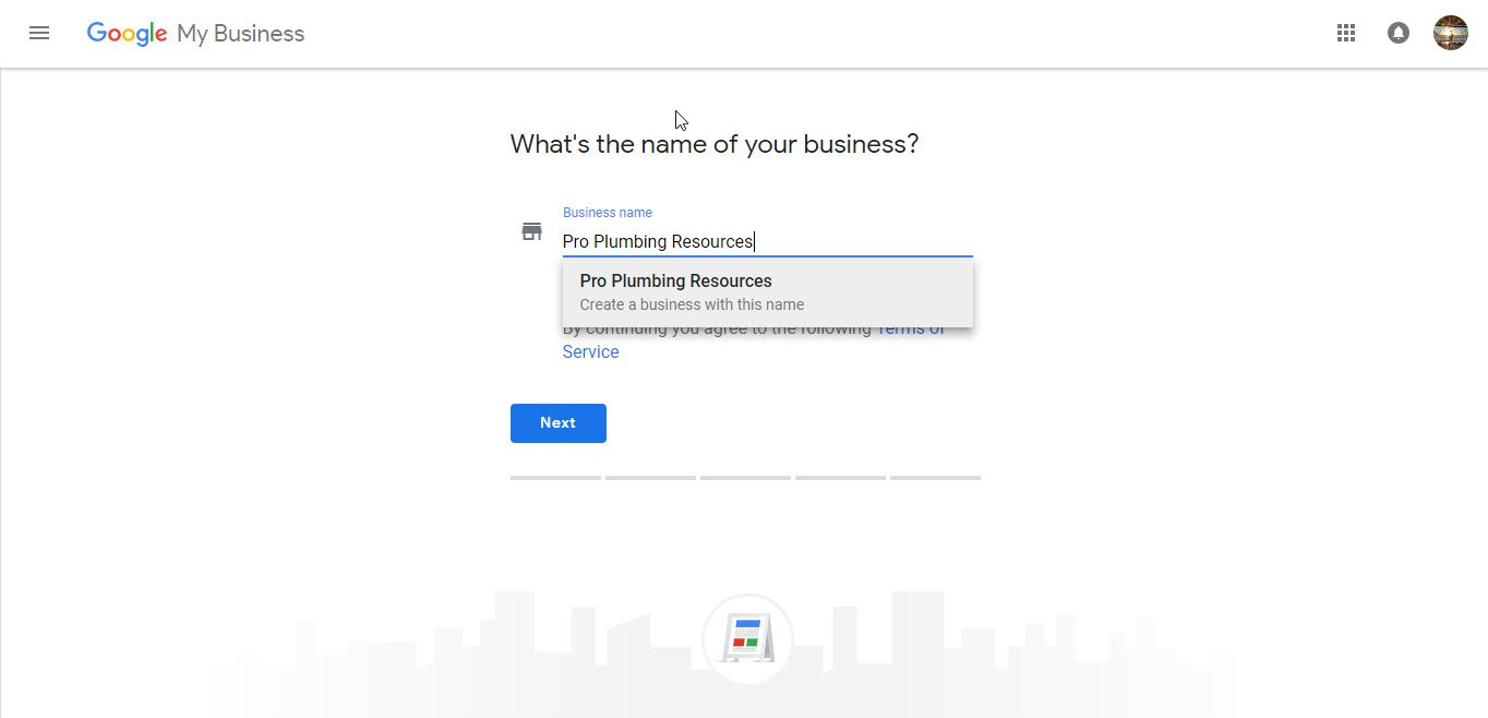 Registering Business Name Google My Business