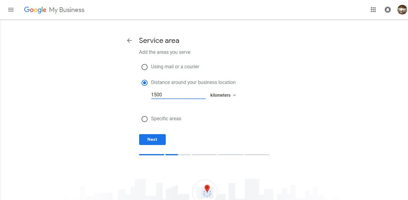 Registering Service Area Address Google My Business