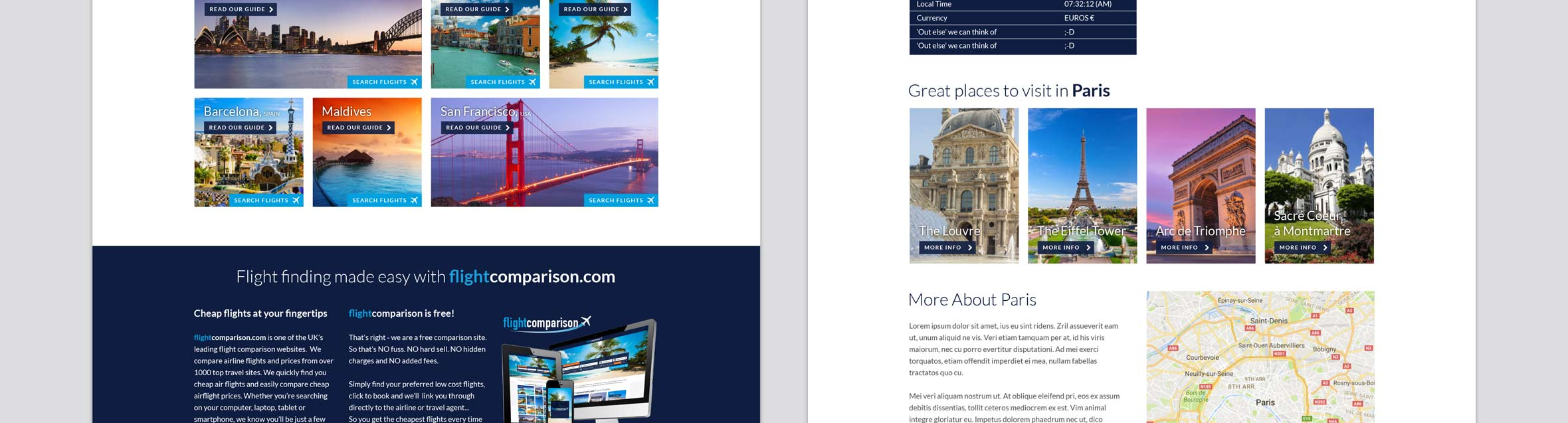 Flight Comparison Website Re-design